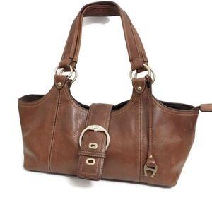 Etienne Aigner Brown Leather Shoulder Bag A2-379